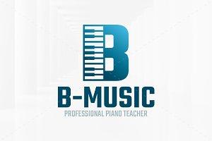 Music - Letter B Logo Template