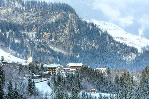 Winter mountain village (Austria)