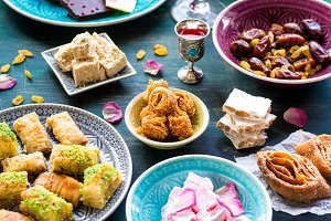 Assorted traditional eastern sweets