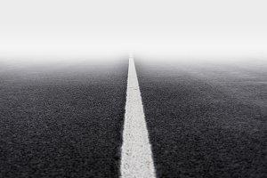 fog asphalt road
