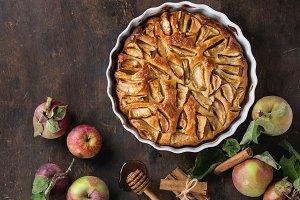 Homemade apple cake