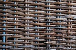 rattan weave closeup