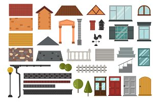 Family house vector design