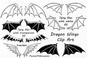 Dragon Wings Clipart