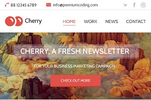 Cherry -  Newsletter Email Template