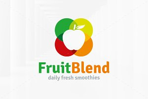Fruit Blend Logo Template