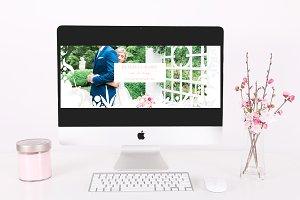 Floral & Dot Timeline Template