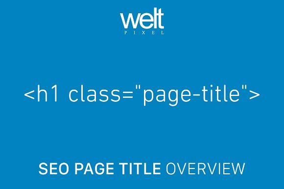 SEO Page Title Overwrite Magento 2