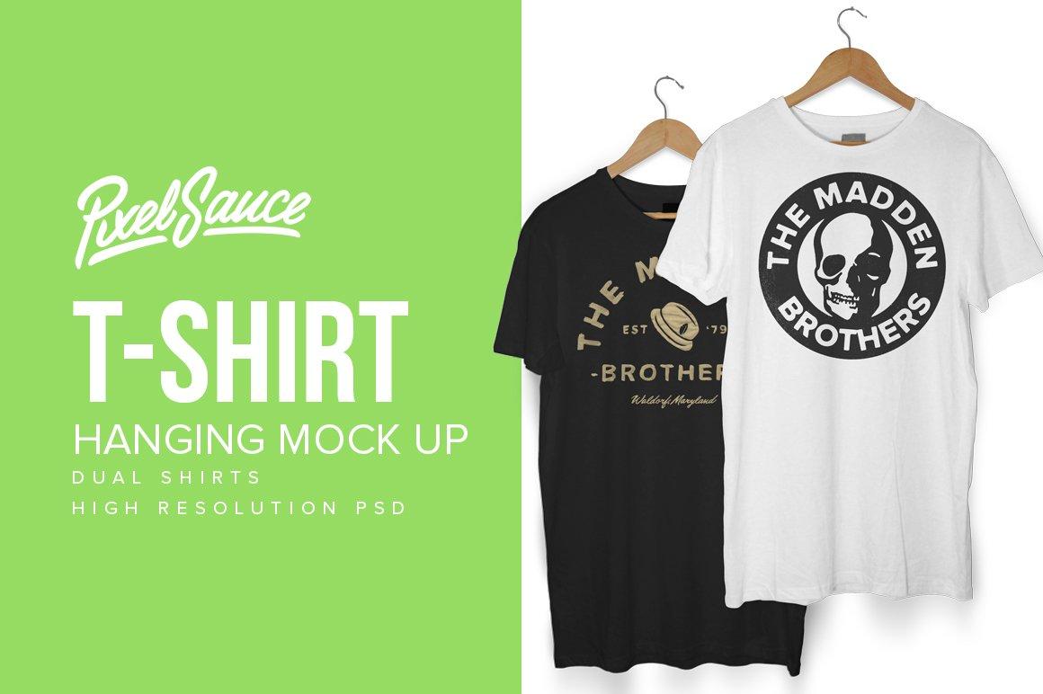 Hanging T Shirt Mock Up Product Mockups Creative Market Circuit Board Tshirt Computer Geek Tee Mens