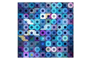 Vector Meta Ball Circles Mosaic