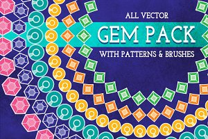 Gem Icons, Patterns & Brushes