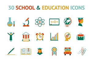 30 education icons