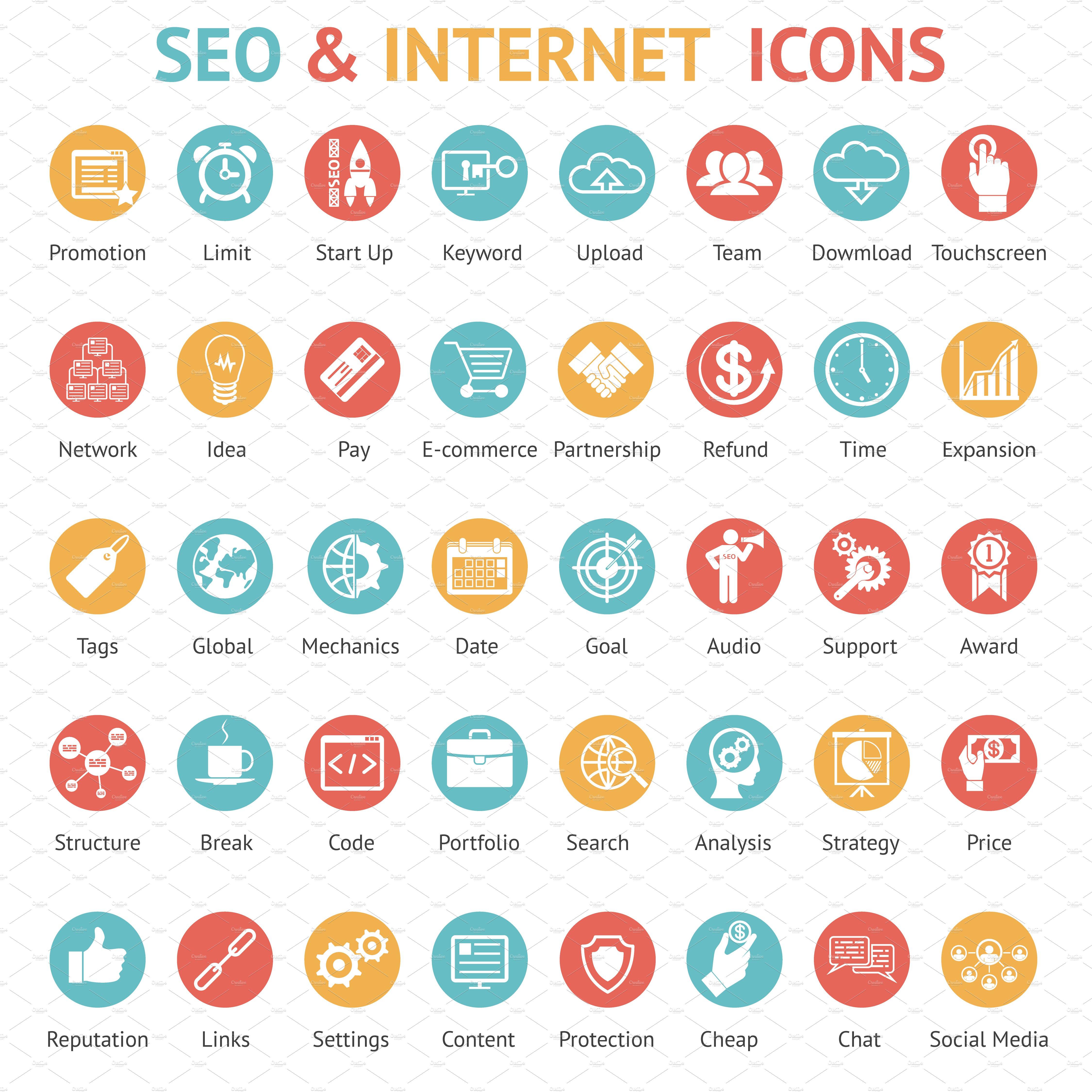 Seo and internet icons icons creative market biocorpaavc Choice Image