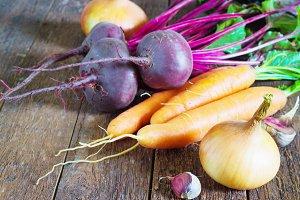 fresh autumn vegetables