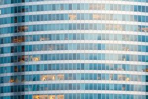 Wall of skyscraper (background).