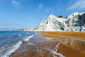 Xi Beach (Greece, Kefalonia).