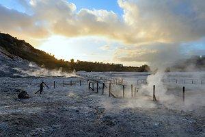 Solfatara, volcanic crater