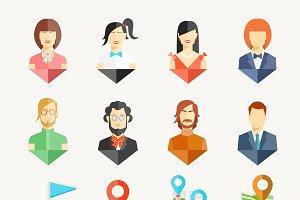 People avatar pins