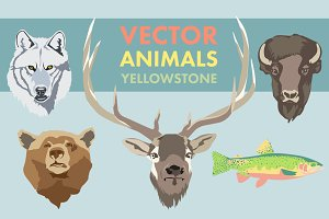 Vector Animals of Yellowstone