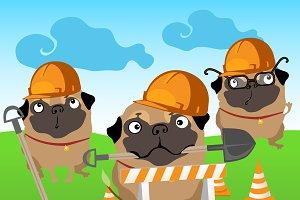 Funny pug dog life