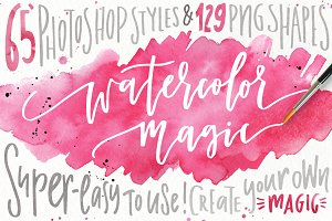 Watercolor Magic - design kit