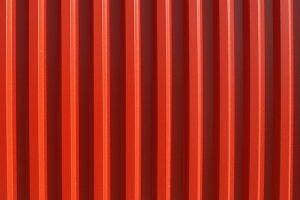 Red corrugated steel