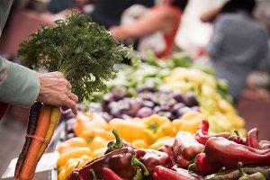 Woman shopping in market