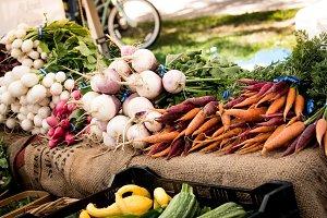 Organic Vegetables in Market
