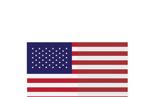 vector image of american flag
