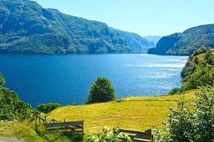 Summer mountain lake, Norway