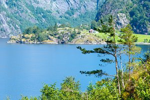 Summer fjord view (Norway).