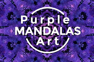 Purple MANDALAS Art