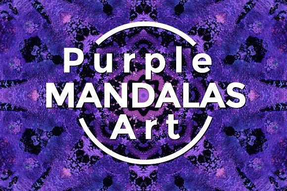 Purple MANDALAS Art