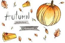 Autumn watercolor essentials