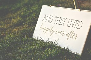Wedding Sign- Happily ever after!