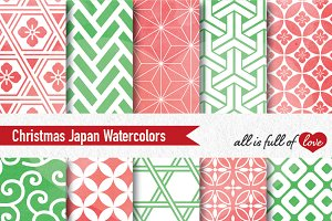 Christmas Patterns Watercolor Paper