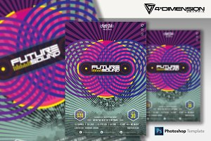 Future Sound A4 Flyer Template