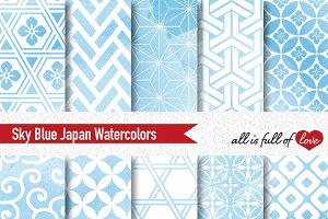 Blue Japanese Watercolor Paper