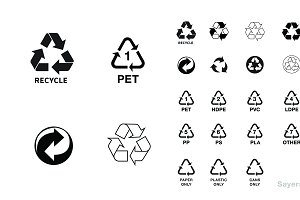 Basic Recycling Symbols & Icons