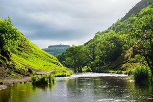 Peak District in England