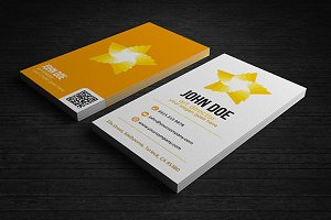 3 Colors Star Business Card