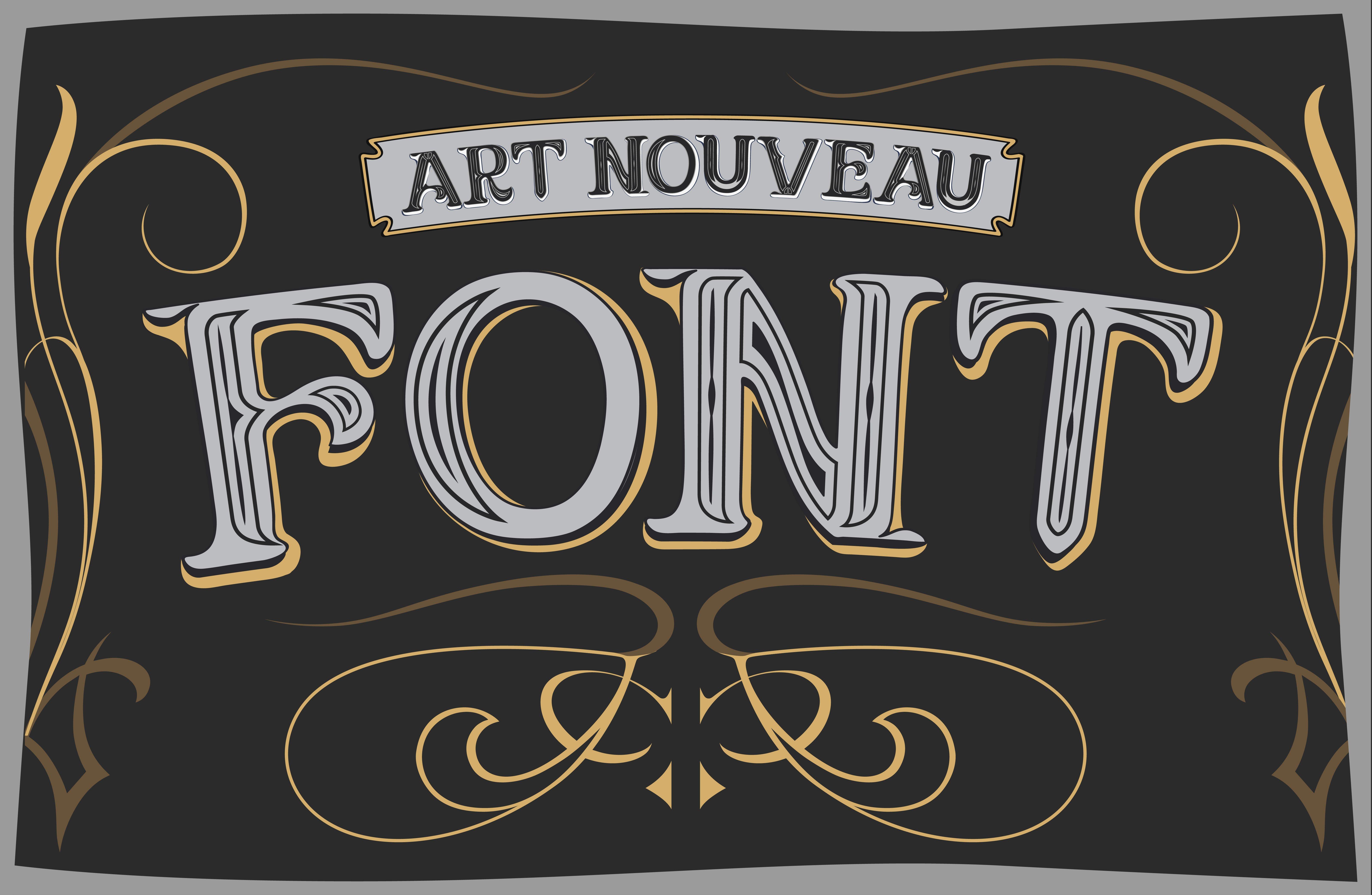 Vector art nouveau label font ~ Fonts ~ Creative Market
