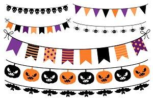 Halloween banner, Bunting Clip art