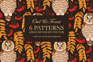 Owl and Forest Patterns