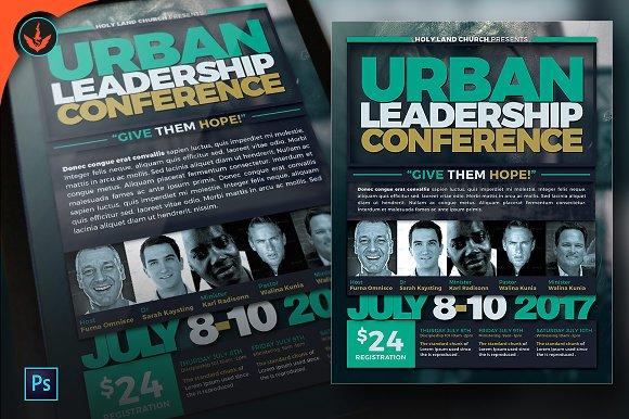 urban leadership conference flyer flyer templates creative market