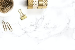 Gold & Marble Styled Desk