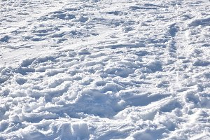 Texture of snowy ground