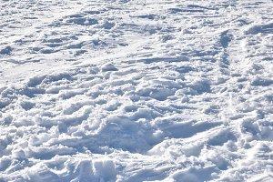 Texture of snowy ground