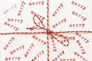 Closeup Merry Present