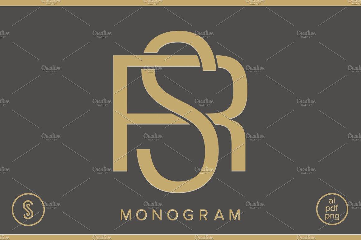 Rs Monogram Sr Monogram Creative Illustrator Templates Creative Market